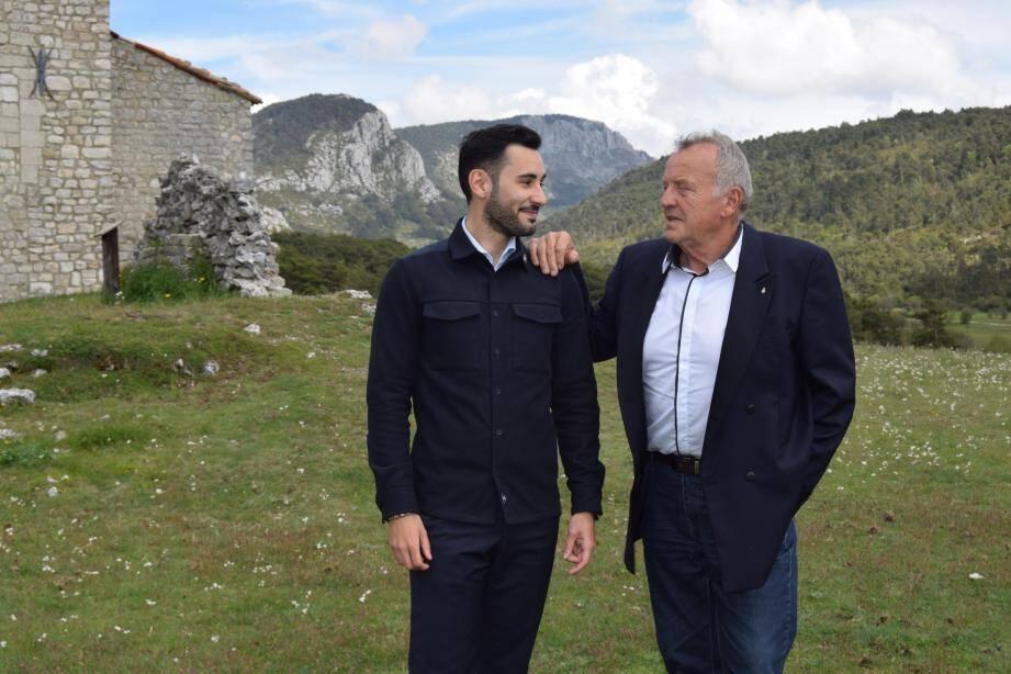 Jérôme Cochet et son suppléant Jean-Pierre Castiglia, ancien maire de Malaussène.