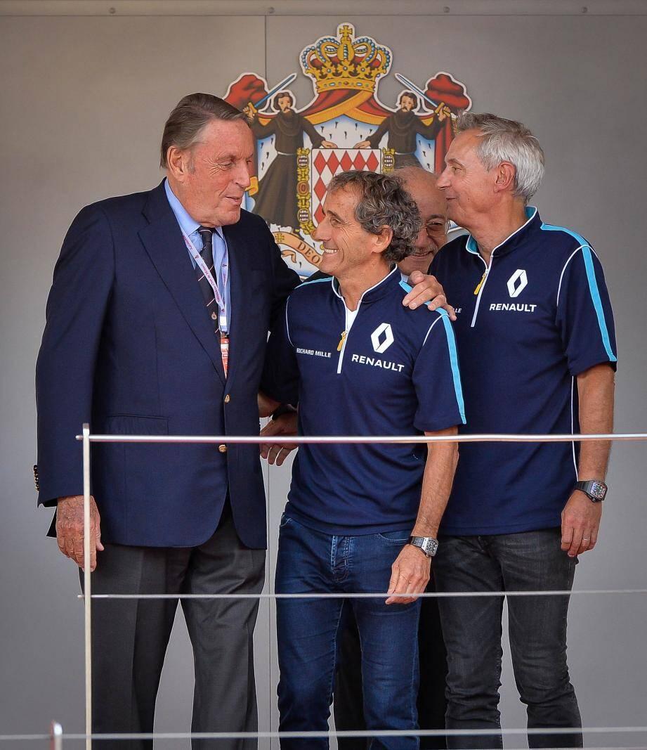 Le président de l'Automobile Club de Monaco, ici avec Alain Prost lors du dernier ePrix.