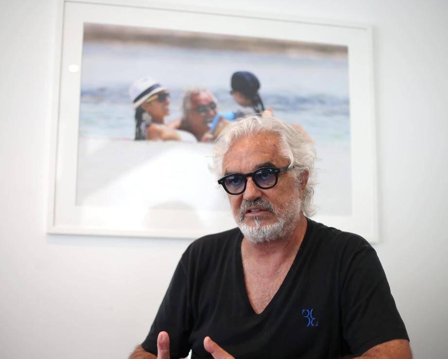 Flavio Briatore hier, dans son bureau monégasque au NiBox.