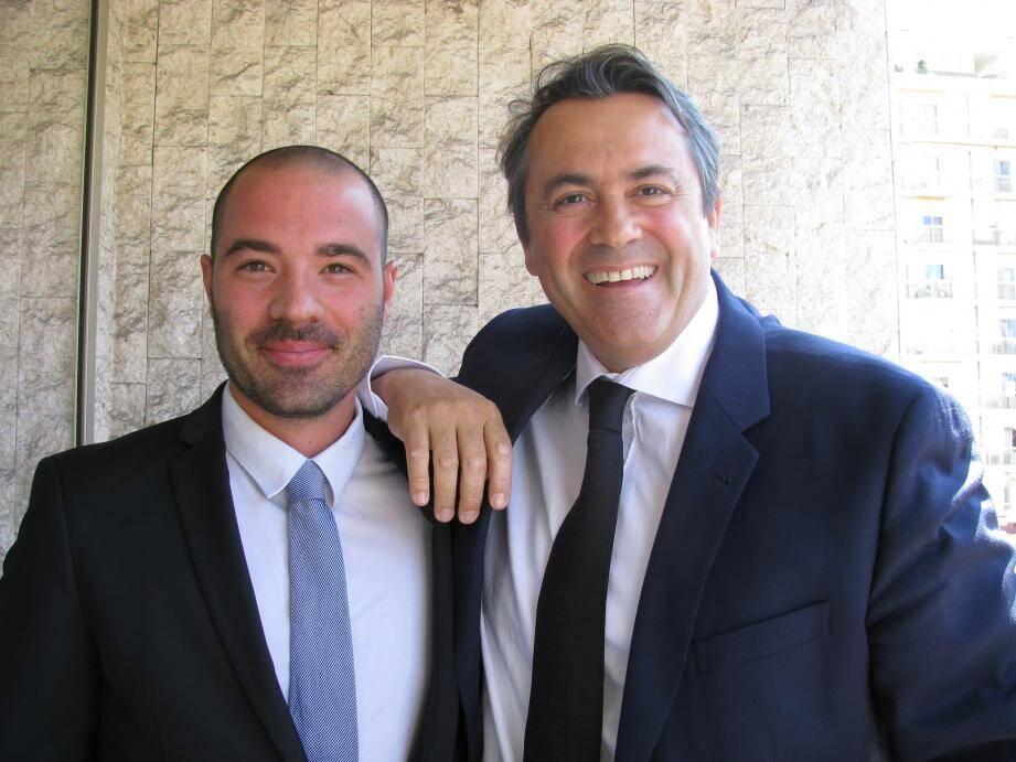 Olivier Bettati (à droite) et son suppléant, Adrien Sfecci, chef d'entreprise à Contes dans le secteur de la fabrication de carrelage. Il est également conseiller municipal d'Èze, élu sur la liste du maire divers-droite Stéphane Cherki. Auparavant, il était élu à la mairie de Contes, dans l'opposition à Francis Tujague.