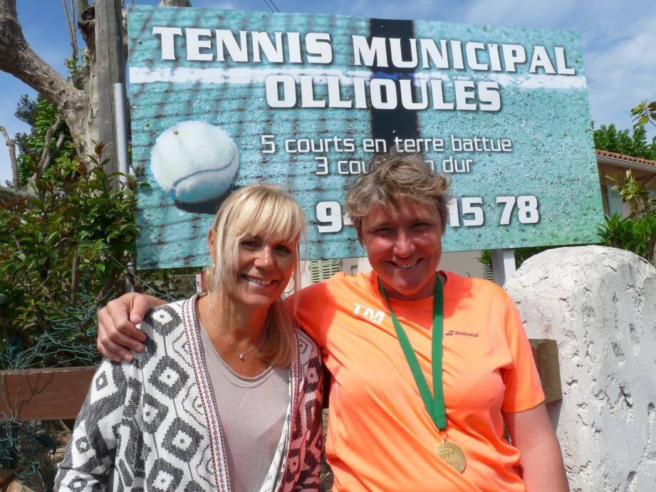La présidente du TMO Sophie Sonier est ravie d'avoir accueilli Caroline Dhenin (à droite ci-dessus) au sein de son club.