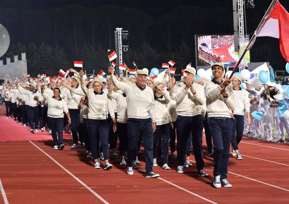 Les Monégasques à l'heure de l'ouverture de ces 17e Jeux des petits États d'Europe.