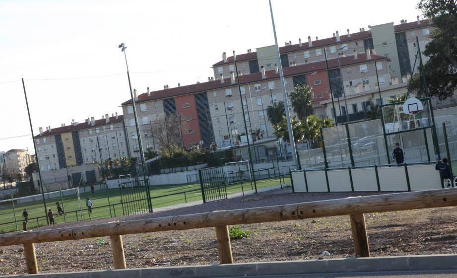 Quartier populaire la Gabelle à Fréjus.