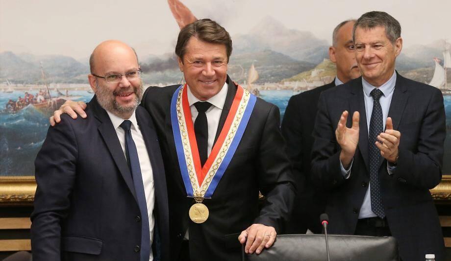 Le jour où Christian Estrosi a succédé à Philippe Pradal.