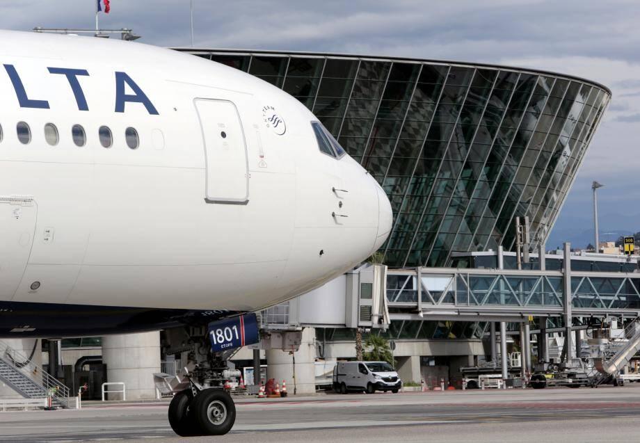 L'aéroport Nice Côte d'Azur. Illustration.
