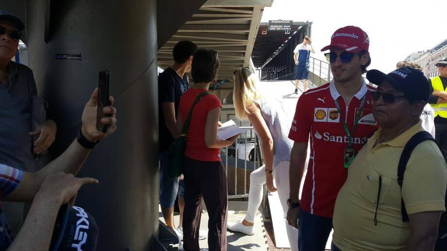 Antonio Giovinazzi, troisième pilote de Ferrari sollicité ce mercredi matin.