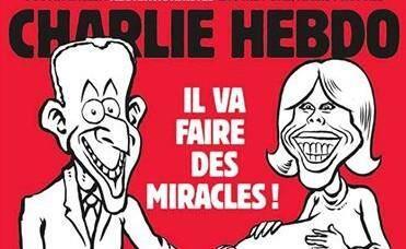 La Une de Charlie Hebdo sur le couple Macron.