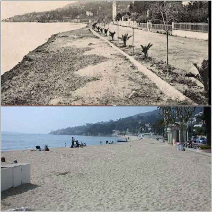 Avant et aujourd'hui, la plage du Soleil.
