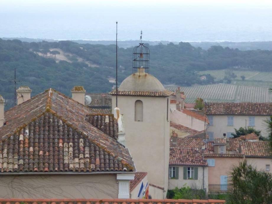 Une vue du village, de Ramatuelle.