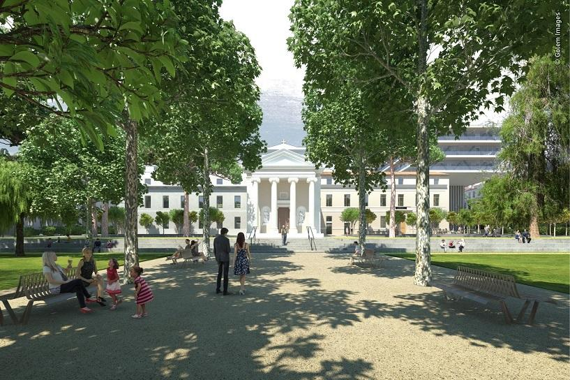 Le parc va venir coloniser l'ensemble du projet.