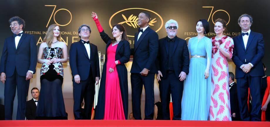 Le jury lors de l'ouverture du Festival.