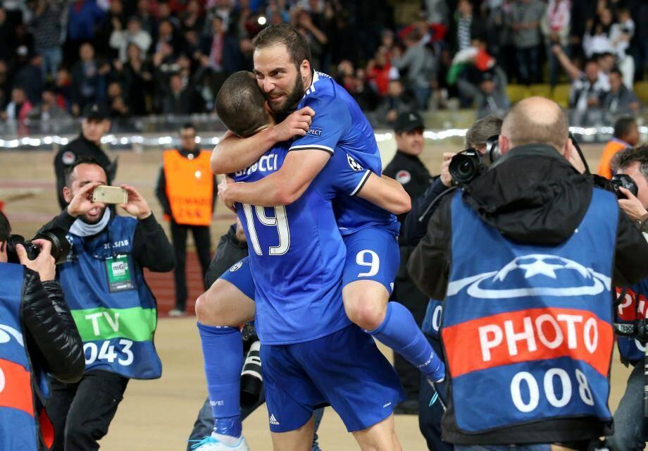 L'attaquant  de la Juventus de Turin Gonzalo Higuain N09.