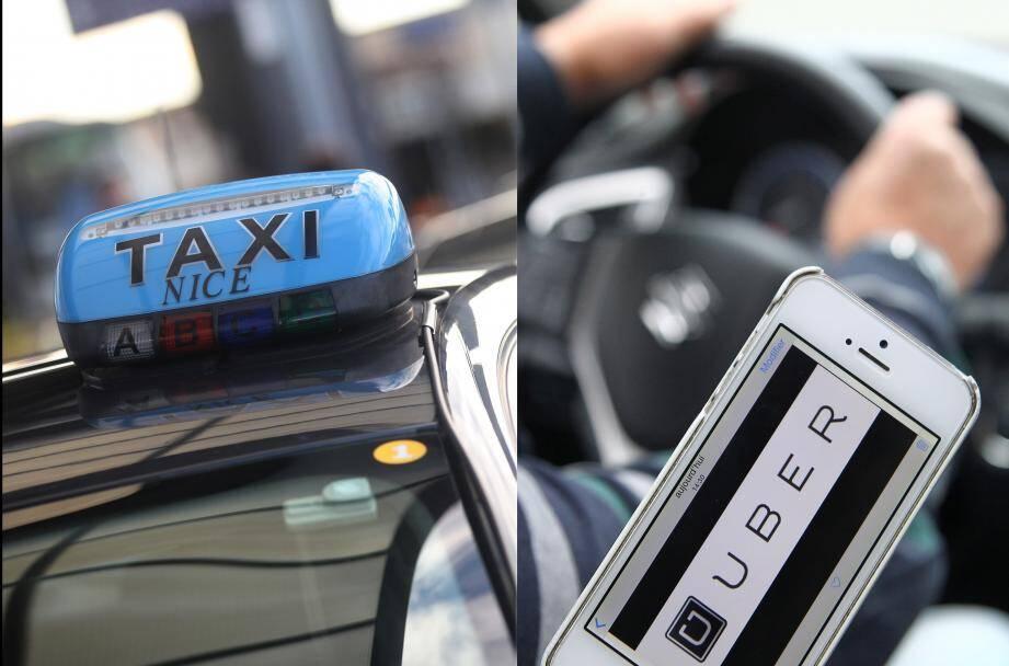 """""""Uber n'est pas toujours le moins cher"""" à Nice, selon les taxis."""