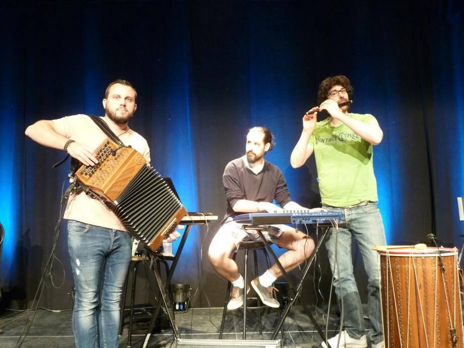 Guillaume Rigaud, Cyril Délécraz et Benjamin Melia seront sur la scène des Joutes musicales, ce vendredi soir.