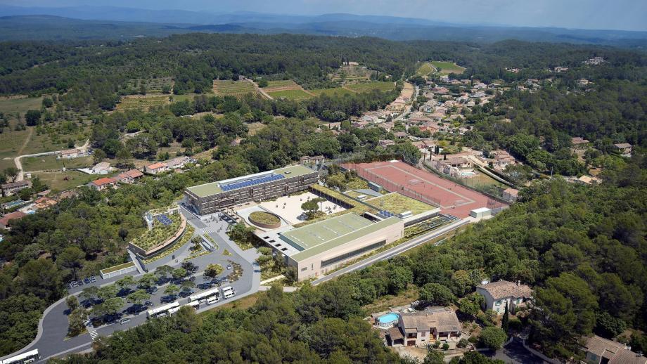 Le collège de Carcès (projet ci-dessus) ouvrira en septembre. La cité mixte scolaire du Centre Var est prévue, quant à elle, en 2021.(Repro DR)
