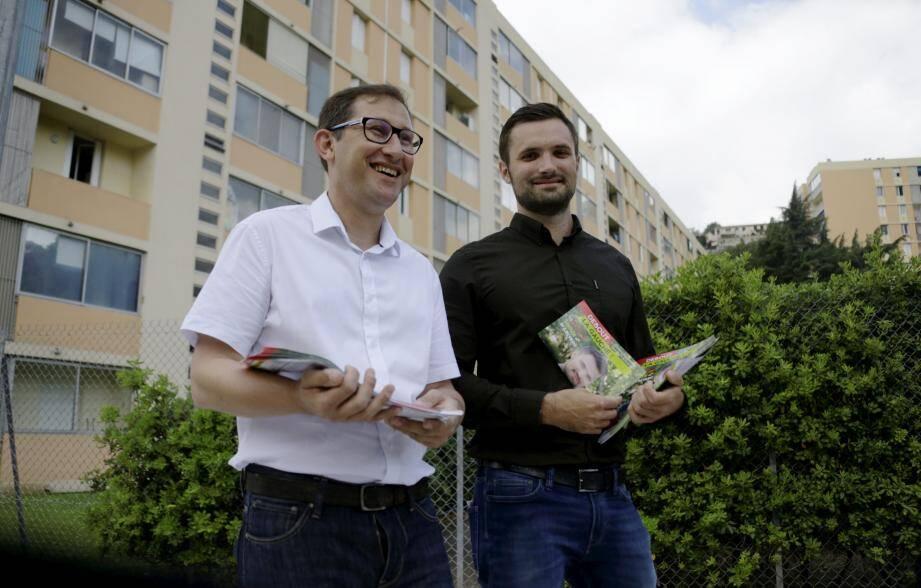 Raphaël Galmiche (à droite) et Stéphane Gauthier.