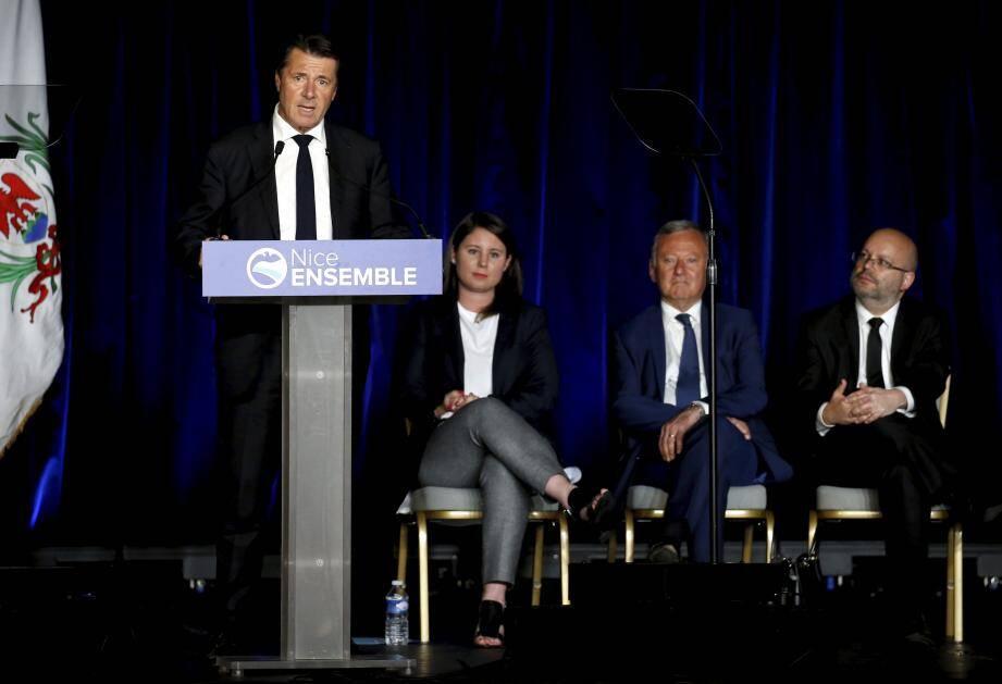 Christian Estrosi, Marine Brenier, Rudy Salles et Philipe Pradal.