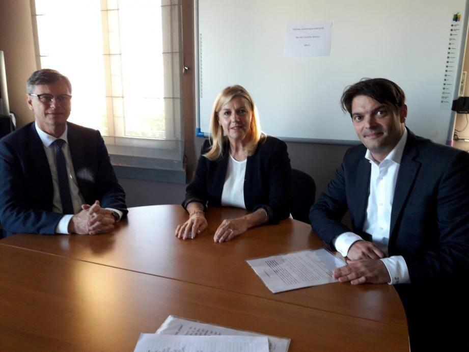 Philippe Renaudi, président de l'UPE06 a apporté son soutien un peu plus tôt dans la soirée à Anne Sattonnet.
