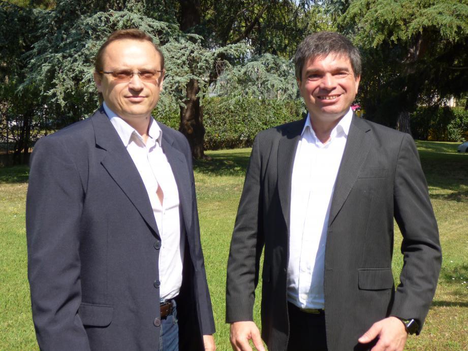 Thierry Muela, directeur de l'agence niçoise d'Eridanis (à gauche), et Emmanuel Gavache, Niçois et fondateur de la startup.
