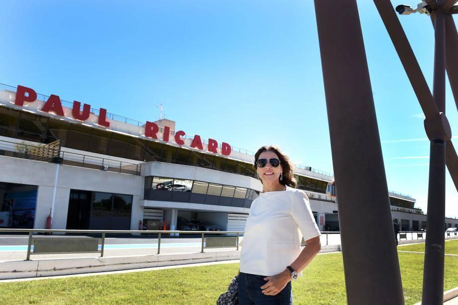 Slavica Ecclestone a passé en revue tous les bâtiments, toutes les pistes de « son » circuit Paul-Ricard. Et apprécié les nombreuses rénovations et innovations entreprises.