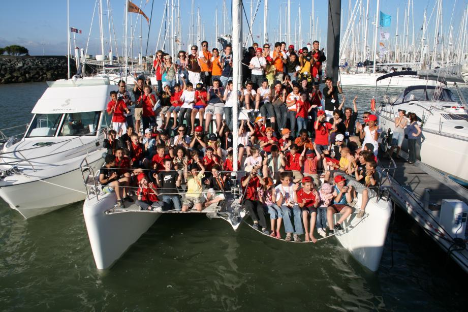 Les petits matelots, ici tous réunis sur un seul bateau, en Corse en 2013.