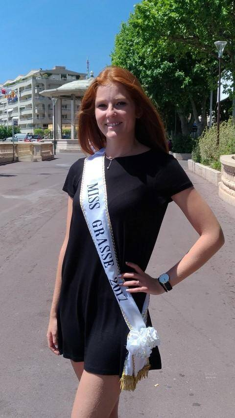 Miss Grasse 2017, fière de représenter sa ville.