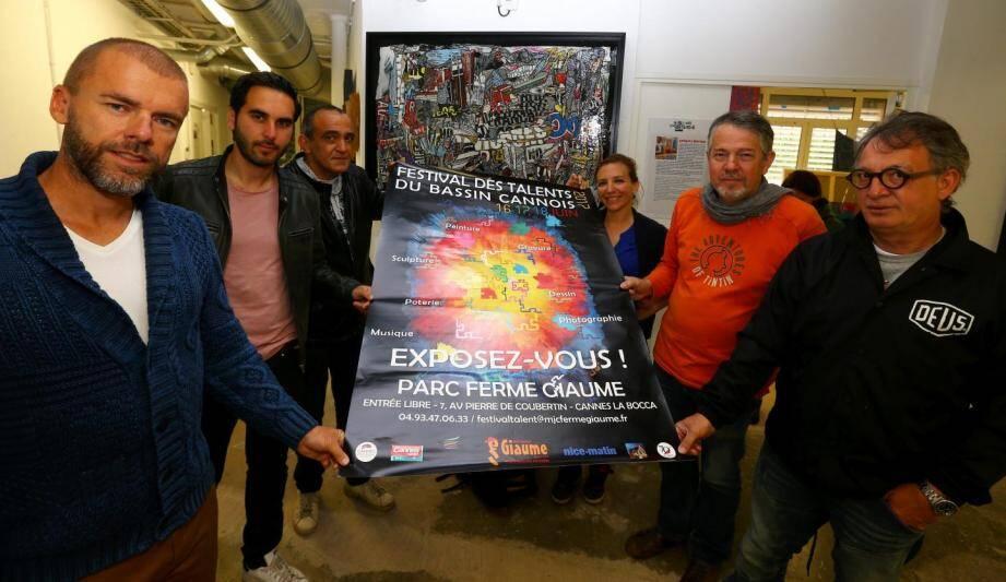 Les organisateurs de la deuxième édition du Festival des Talents du bassin cannois.