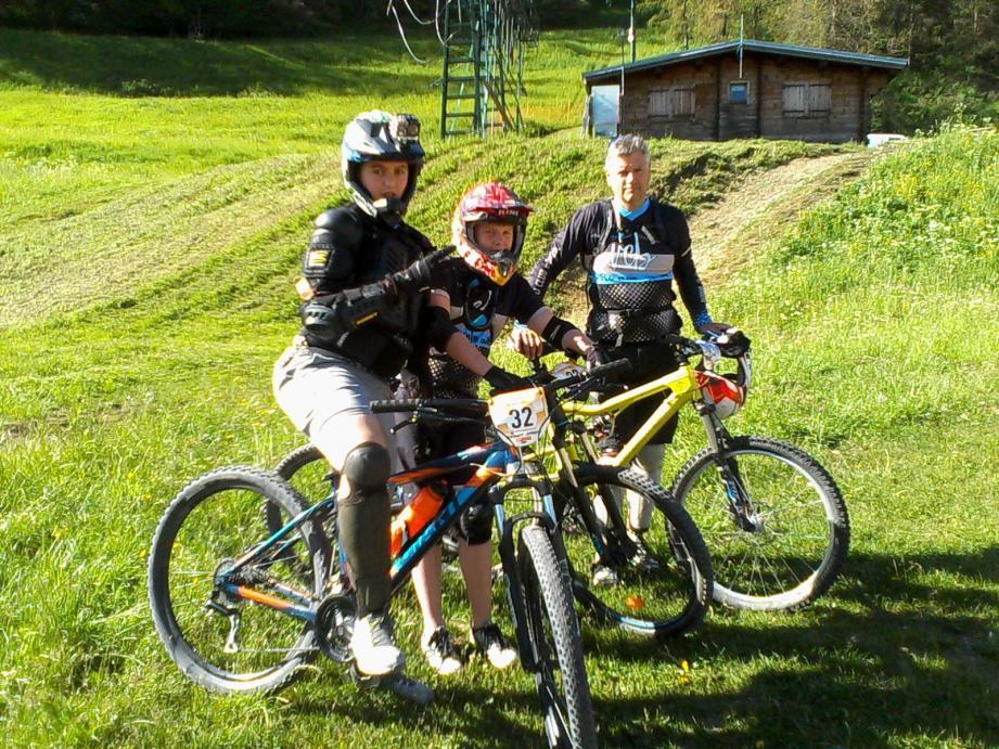 Lucas Bertaina et Jacques Carrupt à Roubion avec Franck Forestier. (DR)