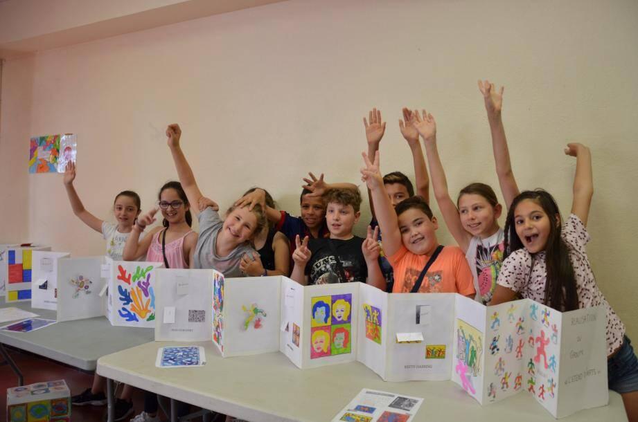 Les élèves ont créé ici un « Etend'Arts ».