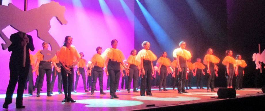 Coordination, enchaînements, lumières, le spectacle avait été travaillé dans tous ses détails.