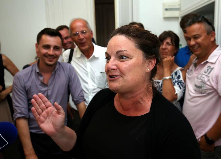 Alexandra Valetta-Ardisson, au moment de sa victoire aux élections législatives.