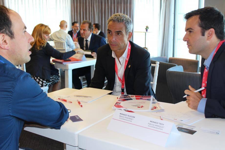 Martin Péronnet, le directeur général de Monaco Telecom, et Fabrice Marquet, le directeur de MonacoTech, viennent chercher du savoir-faire à Tel Aviv.