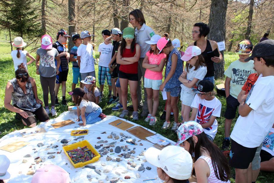 Un des nombreux ateliers tenus par les écoliers lors de cette journée de rencontres.(DR)