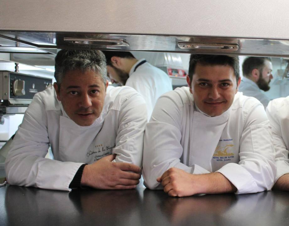 Gabriel Degenne, à gauche, Steve Moracchini, à droite pour un duo 100 % gourmet et gourmand.