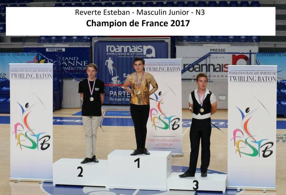 Esteban Reverte, champion de France junior N3.(DR)