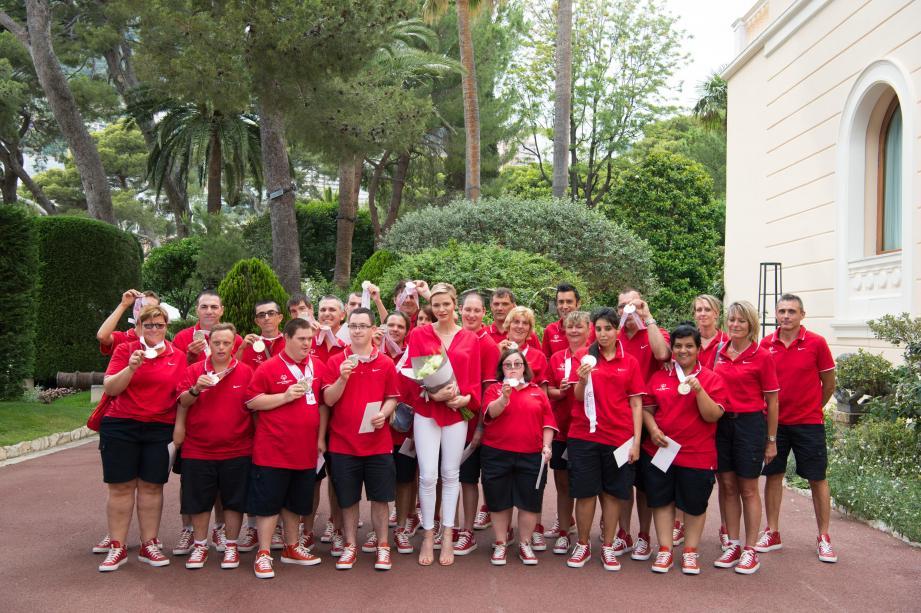 Les athlètes ont été reçus au Palais princier.