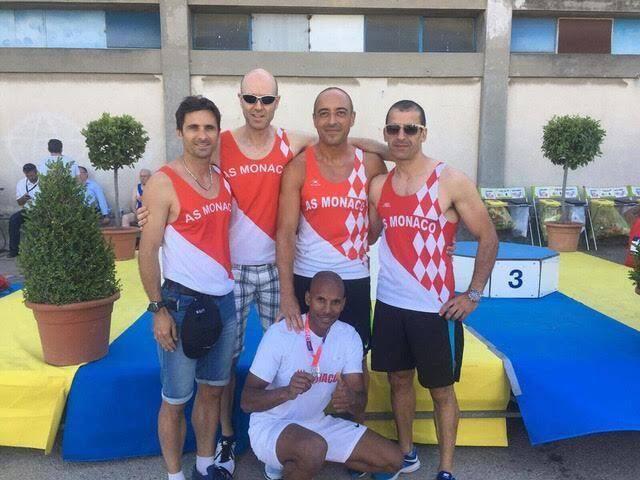 Cinq athlètes de l'A.S Monaco Athlétisme se sont déplacés à Arles pour participer aux championnats de France Masters. (DR)