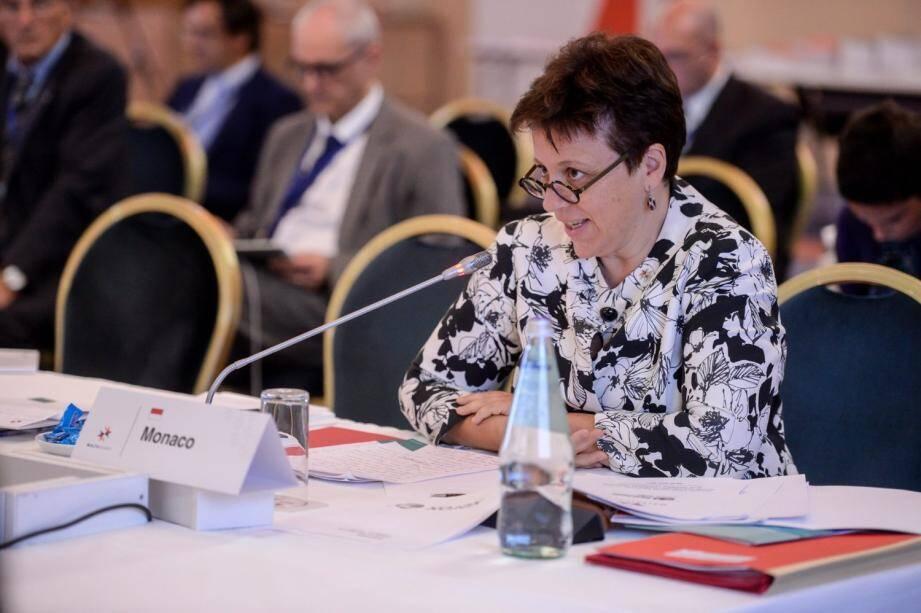 Isabelle Rosabrunetto, directeur général du département des Relations Extérieures et de la Coopération lors de sa prise de parole à Malte.(DR)