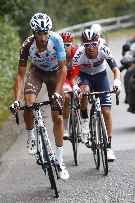 Mikaël Cherel doit retrouver la compétition sur le Tour de Pologne le 29 juillet. En attendant, il a repris le chemin de l'entraînement (ci-dessus, cette semaine autour d'Aiglun).