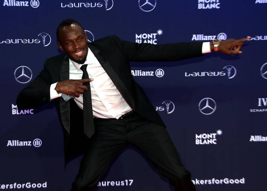 Usain Bolt lors des Laureus 2017 à Monaco.