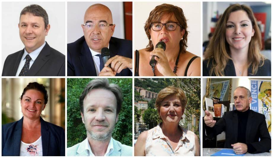 Les huit candidats de La République en marche.