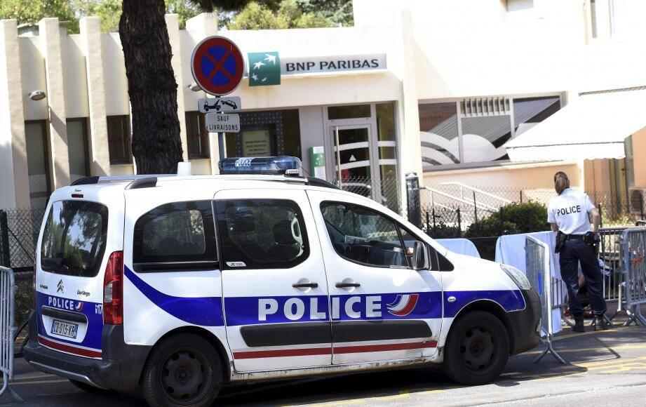 La police sur les lieux du drame.