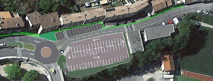 La démolition de l'ancienne école maternelle libérera un espace consacré au stationnement, tandis que le carrefour situé sur la RD 2 204 serait aménagé en rond-point.