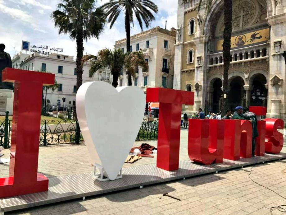 La structure #ILoveTunis a été installée mercredi.