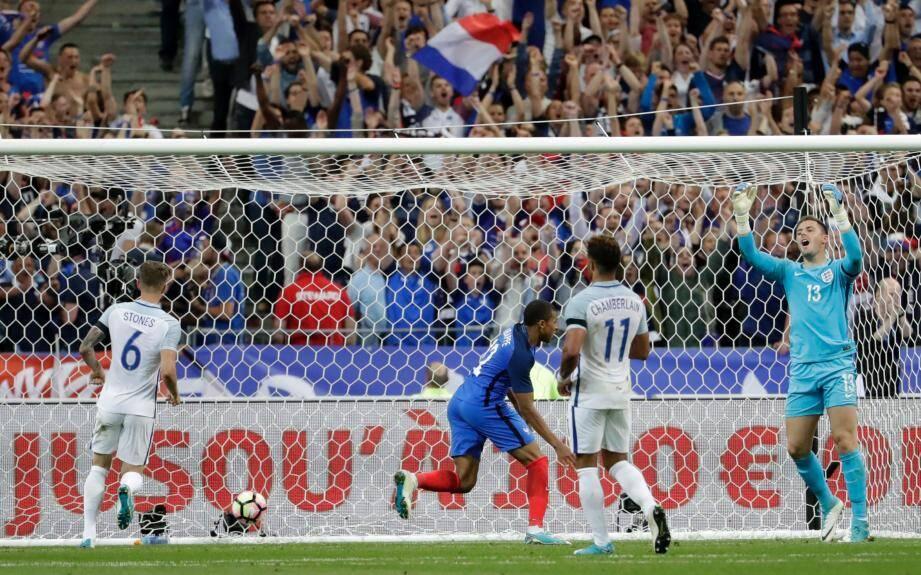 Ousmane Dembélé lors de son but.