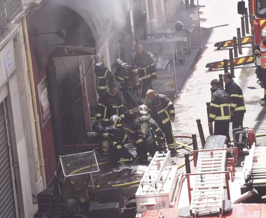 De nombreux pompiers avaient été mobilisés.