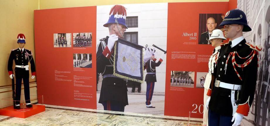 L'exposition est en place jusqu'au 15 octobre dans la bibliothèque du Palais princier.