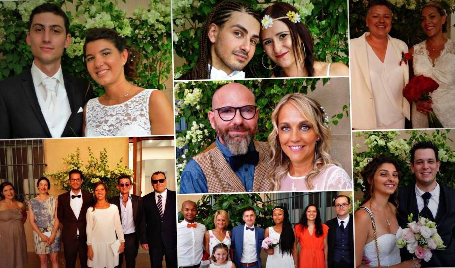 Sept des dix-huit couples qui se sont unis en mairie de Nice
