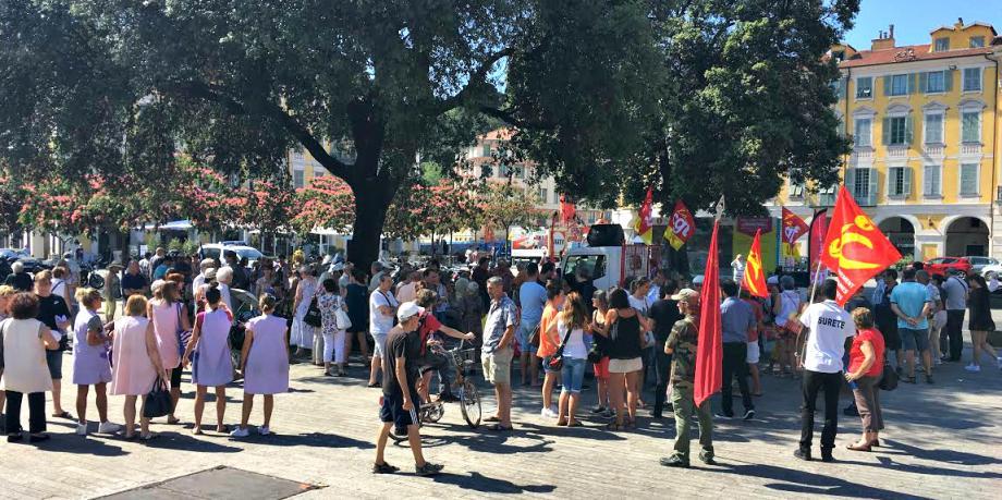 Rassemblement contre la loi Travail à Nice mardi.