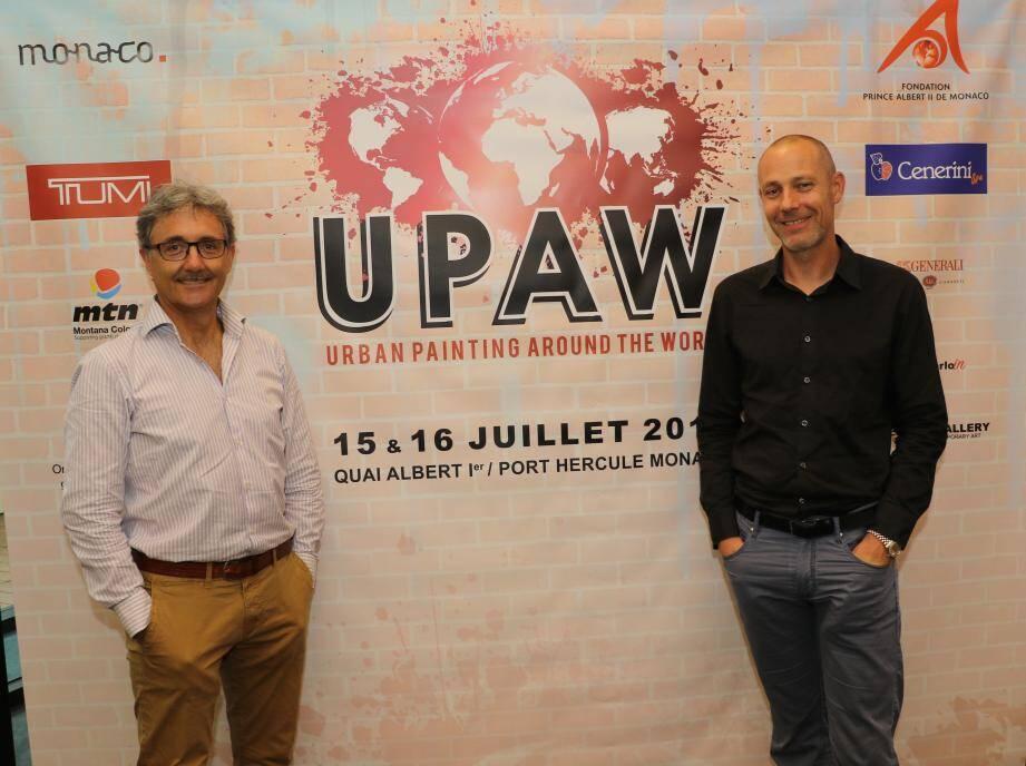 Les organisateurs Alberto Colman et Willem Speerstra.(DR)